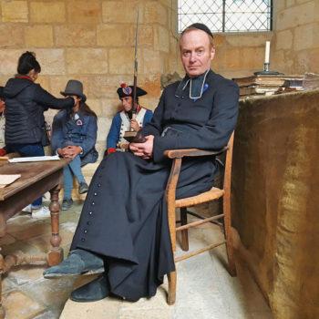 Ludovic Pinette en tournage en Dordogne