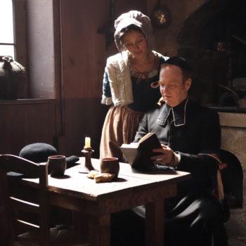 Ludovic Pinette et Gaelle Battut en tournage en Dordogne